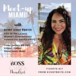 Meetup in Miami with Wendy Porter